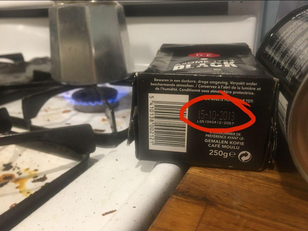 expired coffee