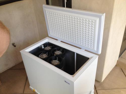 First step, pick a chest freezer