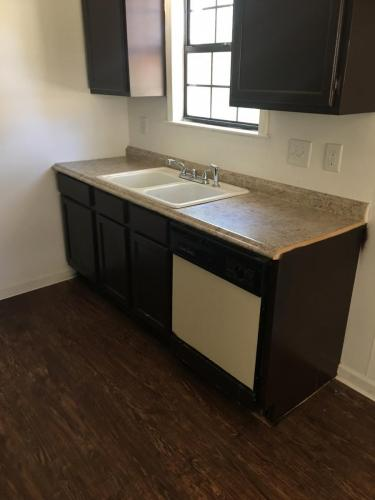 Unfinished kitchen cabinets and countertops